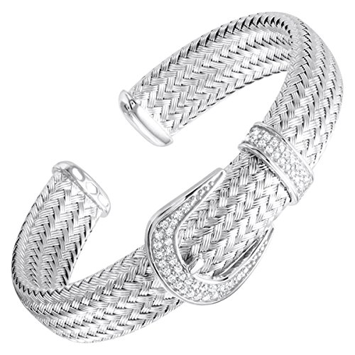 charles-garnier-keira-woven-buckle-cuff-bracelet-with-cubic-zirconia-in-sterling-silver