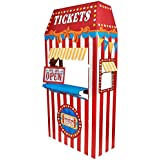 Carnival Games Party Supplies Room Decoration - Ticket Booth Cardboard Stand Playhouse