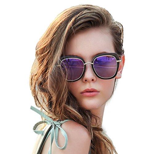 Sunglasses for women oversized, 2018 Innovative Design by LUMCHO , 100% UVA/UVB - Uvb Uva And Protection 100