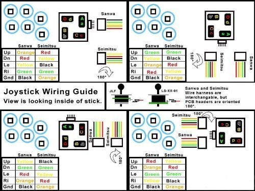 amazon com sanwa jlf h joystick wiring harness automotive rh amazon com Xbox 360 Joystick Wireing Xbox 360 Joystick Wireing