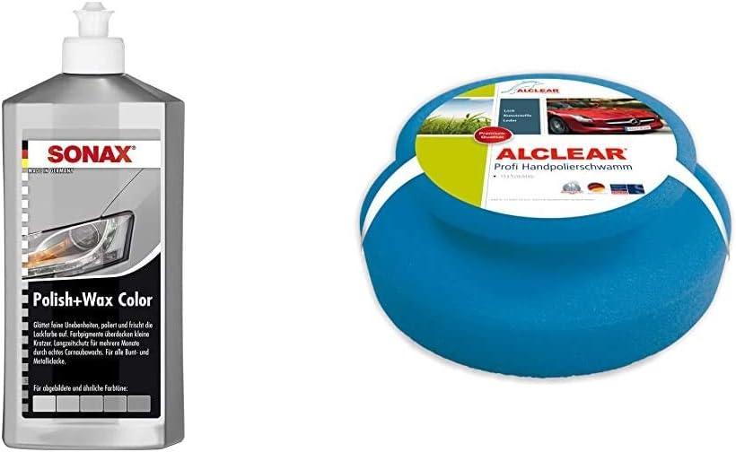 Sonax Polish Wax Color Nanopro Silber Grau 500 Ml Politur Mit Farbpigmenten Und Wachsanteilen Auf Nanotechnologie Basis Alclear 5713050m Auto Profi Handpolierschwamm 130 X 50 Mm Auto