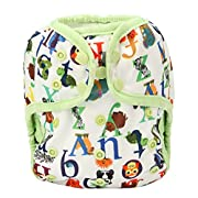 One Size Cloth Diaper Cover Snap With Double Gusset (Letter)