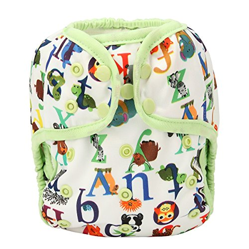 One Size Cloth Diaper Cover Snap With Double Gusset (Letter) from Hibaby