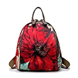 Ciel Infini Women's Backpack Purse Waterproof Anti-theft Lightweight Rucksack,Red,One Size