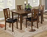 Cheap Alpine Furniture 1426 Del Rey 5 Piece Dining Set, Brown