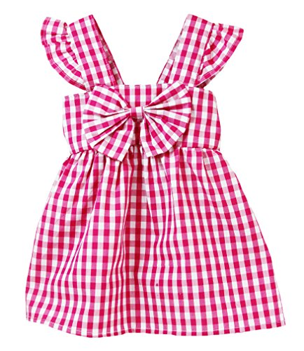 Wholesale Princess Dresses (Wholesale Princess Sleeveless Gingham Dress (4-5T, Hot Pink))