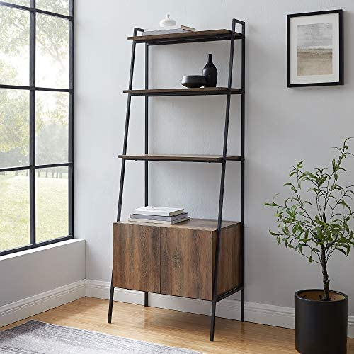 Cheap 72″ Industrial Modern Ladder Bookcase w/Cabinet modern bookcase for sale
