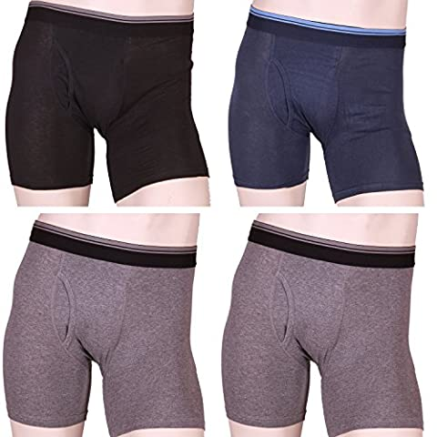 Kirkland Signature Men's Boxer Brief 4-Pack (XXL, Black/Grey/Grey/Blue) - 4 Pack Boxer Brief