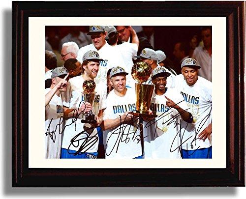 Framed Dallas Mavericks Championship Autograph Replica Print - Black Dallas Mavericks Frame