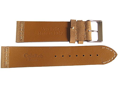 ColaReb 18mm Venezia Rust Brown Leather Watch Strap by ColaReb (Image #1)