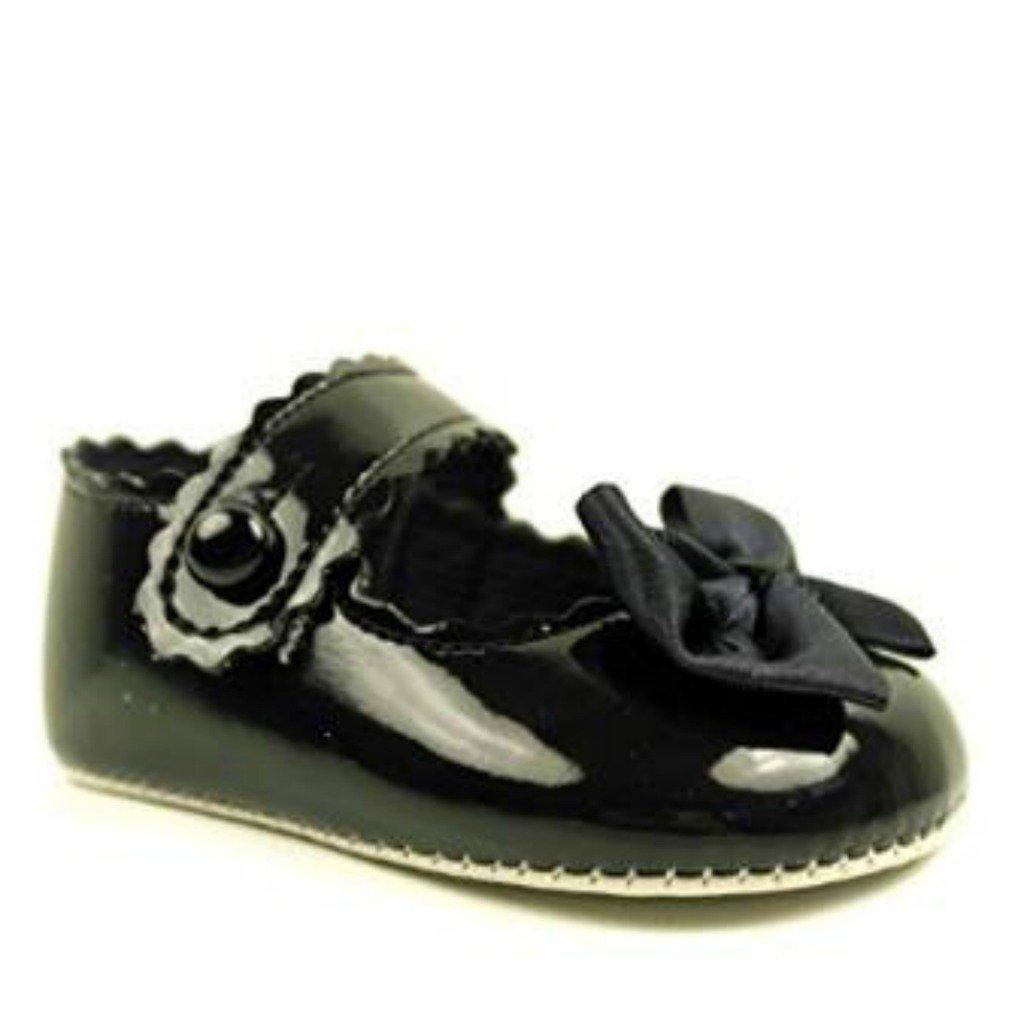 BNIB Bebé Niñas Baypod Zapatos de Primera Cochecito en Rosa Negro - Rojo o Blanco 4 Tallas, Color Blanco, Talla (3-6 Meses)