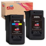 JIMIGO Remanufactured Ink Cartridge Replacement for Canon PG-240XL CL-241XL PG-240 CL-241 for Pixma MG3620 MG3220 MG3520 MG2220 MG2120 MG3120 MG4120 MX472 MX452 MX532 MX432 MX512 (1 Black,1 Tri-Color)