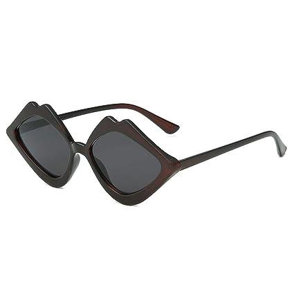 Qiiueen Gafas De Sol para Mujer, Chica Jalea Labios Labios ...