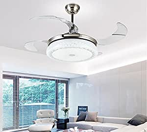 Tiptonlight Sand Silver Retractable Ceiling Fan With Three
