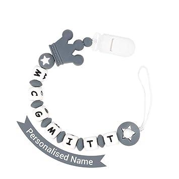Amazon.com: MCGMITT - Clip para chupete de bebé, hecho a ...