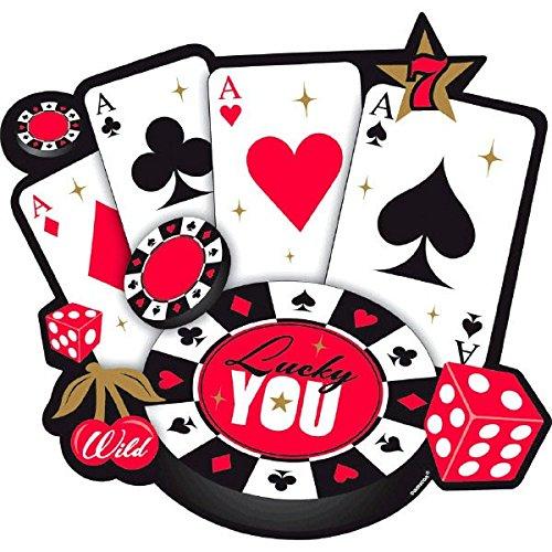 Casino Bulk Cutout Party Decoration, Paper, 10