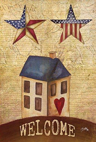 Toland Home Garden American Stars Welcome 12.5 x 18 Inch Dec