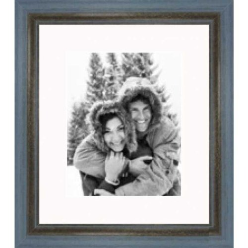 Rustic Grey Blue Wire Brush picture frame 11x14