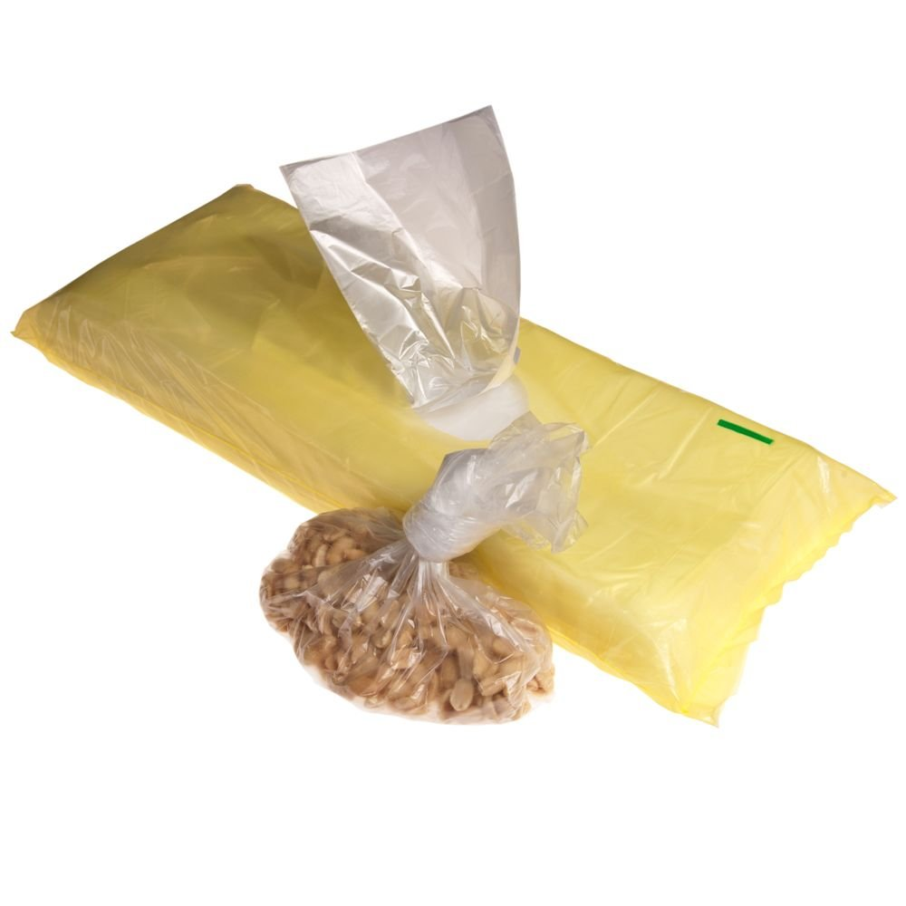 Plastic bag with side folding 18x27cm (1 pack)