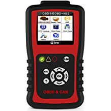 KZYEE KC401 Universal OBD2 Scanner, Enhanced OBD II Car Code Reader / Eraser Supports ABS Diagnostic Scan Tool with TFT color Screen, for Diesel and Gasoline Engine 12V Vehicles