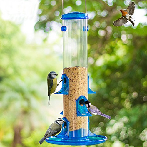 md-21-inches-high-outdoor-blue-plastic-hanging-bird-feeder-with-multiple-big-feed-hole-design
