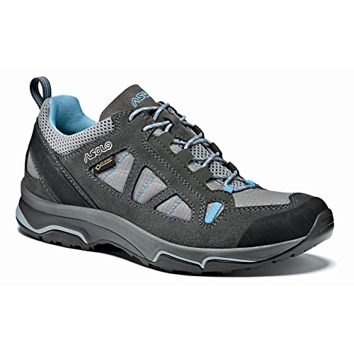 Asolo Megaton GV Hiking Shoe - Women's - 7.5 - Graphite Stone/Cyan Blue