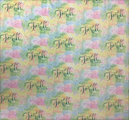 Inspirational Faith Fleece Fabric - 60