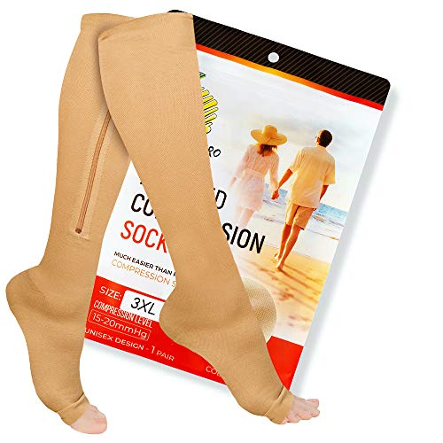 Zipper Compression Socks with