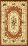 Cheap Persian Traditional Design rugs, Brick Red 5′ x 8′ – Feet Tiba Collection Area rug – Perfect for any Room, Floor Carpet