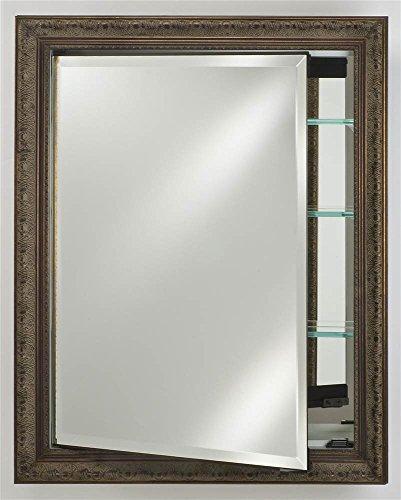 Afina SD1726RSIEBZ Single Door Recessed Medicine Cabinet, 17