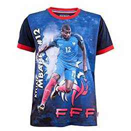 Equipe de FRANCE de football Maillot FFF - Kylian MBAPPE - Collection Officielle Taille Enfant