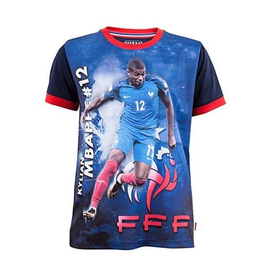 Equipe de FRANCE de football Maillot FFF - Kylian MBAPPE - Collection Officielle Taille Enfant