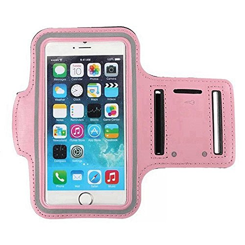 - Baby Pink Armband Exercise Workout Case with Keyholder for Jogging fits Lenovo Note 8 A936. for Arms up to 12 inches Big.