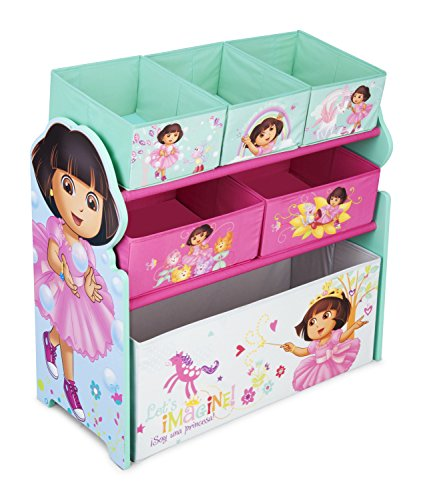 Delta Dora - Delta Children Multi-Bin Toy Organizer, Nick Jr. Dora The Explorer