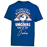My Family Tee Rainbows Unicorns Kind of Day Jordan Girl Name Gift - Boy Boys T-Shirt