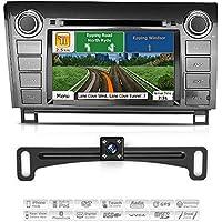 Aimtom Toyota Tundra Sequoia In-dash Bluetooth GPS Navigation System Car Stereo 7 Inch Touchscreen AV Receiver with Backup Camera Radio Video Deck SD USB Head Unit w/ Copyrighted iGo Primo Maps