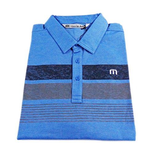 TravisMathew  Men's Greg Eddie Timeless Blue/Dusk Blue Shirt