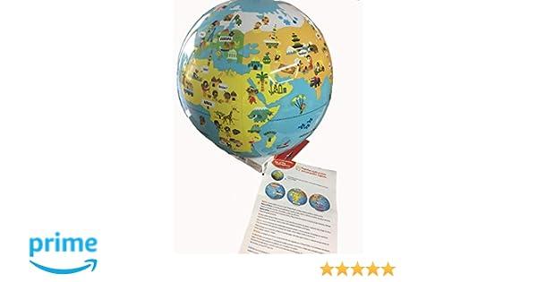 Caly Pequeños viajeros - Globo del mundo hinchable infantil