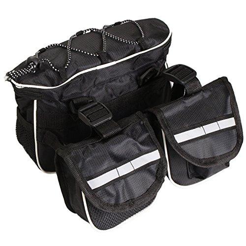 Pinzhi Fahrrad Satteltasche / Fahrradtasche für Handy, Werkzeug und Portmonnaie. Geeignet für Mountainbike und Trekkingbike