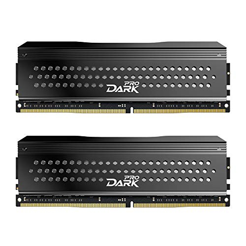 TEAMGROUP T-Force Dark Pro DDR4 16GB KIT (2 x 8GB) 3200MHz (PC4 25600) CL 14 288-Pin SDRAM Desktop Gaming Memory Module Ram - Gray - TDPGD416G3200HC14ADC01
