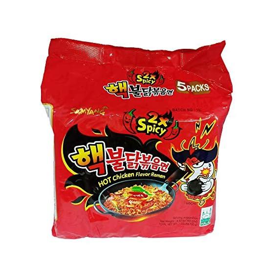 Samyang Hot Chicken Ramen 2X Spicy Noodles, 5 X 140 g