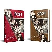 2021 Kırmızı Atatürk Ajanda + 2021 Kahverengi Atatürk Ajanda