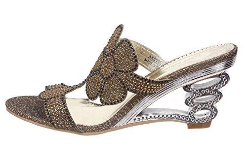 JohnFashion - Sandalias de vestir para mujer dorado