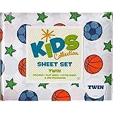 Kids Collection Basketball Soccer Twin Sheet Set (Sports)