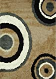 Home Dynamix Synergy Area Rug | Contemporary Shag Family Room Rug | Modern Geometric Design | Elegant and Cozy Extra Thick Pile | Beige and Gray 7'8″ x10'4