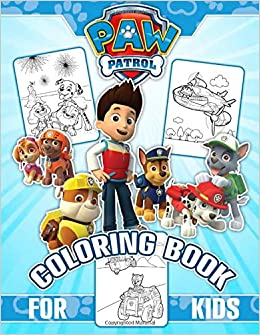 Paw Patrol Coloring Book Great 43 Illustrations For Kids