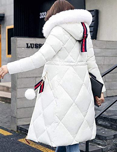 Colore Giacca Trench Accogliente Donna Sezioni Outerwear Con E Piumino Puro Vento Sciolto Invernali Moda Semplice Bianca Piumini Lunghe Cappuccio Fit Slim Parka Invernale Glamorous Addensare Hot aBUqwrxga