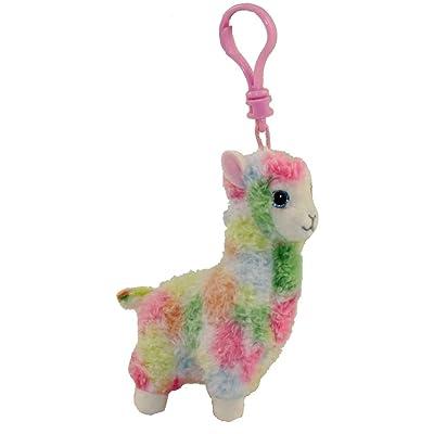 T&Y Ty Beanie Babies LOLA - Multicolor Llama(Clip): Toys & Games