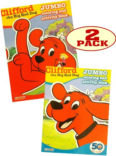 Clifford Jumbo Coloring and Activity Book Set of 2