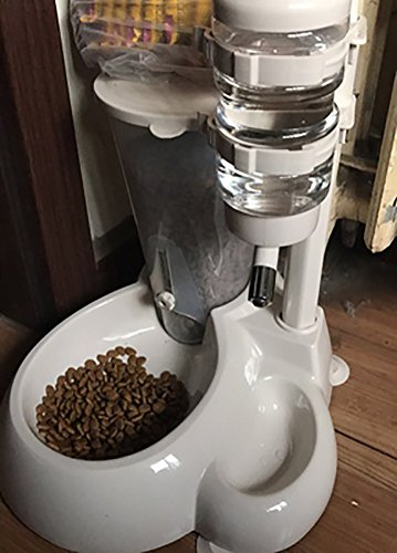 MaruPet Automatic Pet Standing Water Dispenser Cat Dog Standing Bowl with Detachable Pole Automatically Feeding Water Height Adjustable White by MaruPet (Image #2)